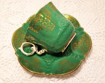SALE! Aynsley Green Gold Tea Cup & Saucer