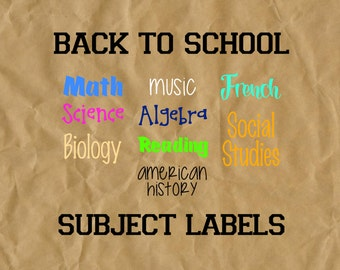 Binder Label Bundle for Back to School - Notebook/Subject Label