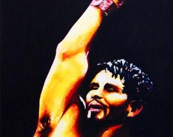 Boxer original print of my painting of Roberto Duran
