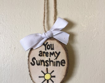 You Are My Sunshine Valentines Ornament, Gift Tag, Valentines Gift