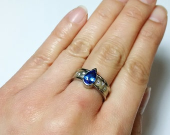 Designer 18K Gold Tanzanite and Diamond Ring *ON SALE for a limited time*