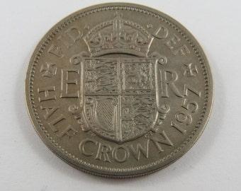 Great Britain 1957 Half Crown Coin.