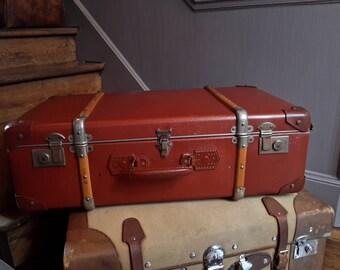 Travel vintage suitcase