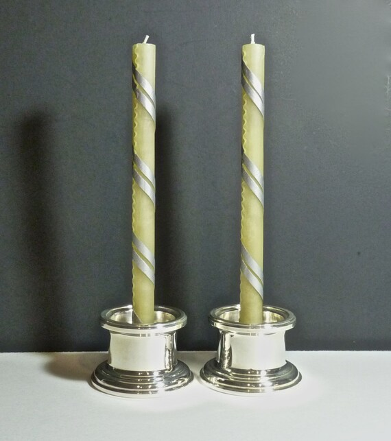SILVER PLATE ~ Candle Holders ~ Gorham Silver YC 3005 ~ Vintage 1980s ~ Excellent Vintage Condition