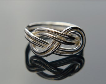 Silver Double Infinity Ring, Sterling Silver Infinity Ring, Infinity Ring, Promise Ring, Friendship Ring, 925 Sterling Silver