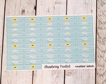 Weather Tracking Planner Stickers - Made to fit Vertical or Horizontal Layout