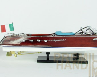 Riva Aquarama Wooden Model Boat