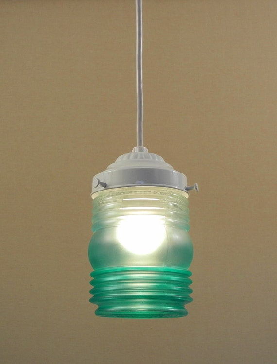 Jar Pendant Ceiling Light Fixture Single By Thepaintedfilly