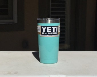 20oz Yeti Rambler Powder Coated Seafoam Teal Girlfriend Gift Gifts for Her