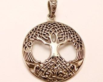 Sterling Silver Organic Celtic Tree of Life Pendant