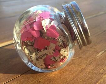 Jar of Valentine Confetti