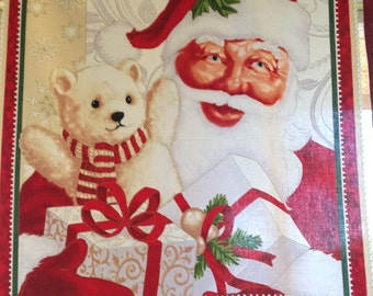 Jolly Old St. Nick Red Panel By Quilting Treasures
