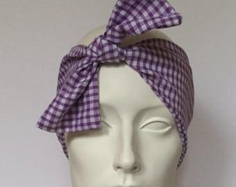 Wireless Headband: Cotton Gingham