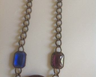 1980's large jeweled necklace