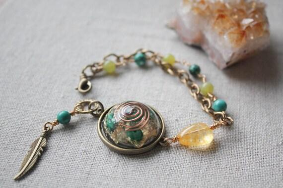 healing energize orgonite bracelet