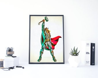 Marvel Wall Decor comic book decor | etsy