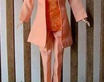 Barbie Doll With Handmade Barbie clothes, With BARBIE SHOES & POCKETBOOK And Chiffon Scarf, six piece Barbie fashion clothes, modest doll