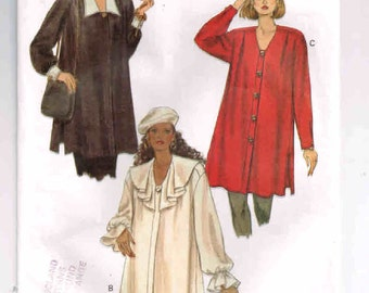 "Vogue Maternity Pattern #8792, Vintage 1993, Loose Fit Maternity Shirt, Sizes 12, 14, 16, Bust 34 - 38"" (87 - 97cm) Main Pieces Cut Size 14"