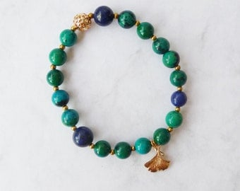 Tropical Green Stretch Bracelet