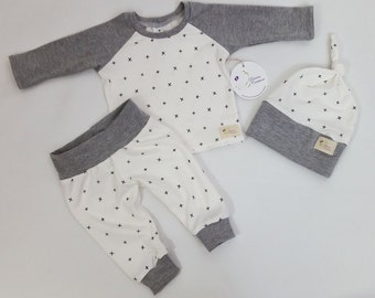 SALE! Baby Boy Clothes - 12-18 M - Boy Pant Set  - Baby Girl Clothes - Baby leggings - Hat - Baby Gift- Ready to ship
