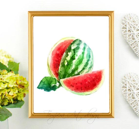 watermelon decor watermelon print summer wall by