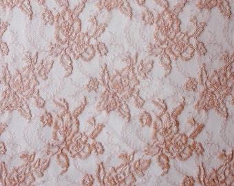 French Lace hand-embroidered using beads