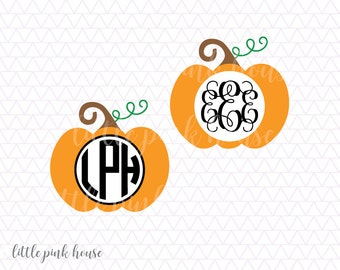 Etsy your place to buy and sell all things handmade for Monogram pumpkin templates