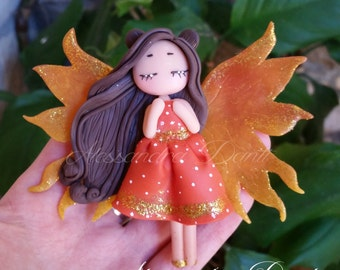 Custom Fairy magnet in PolymerClay