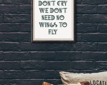 Justin Bieber Quote Prints Lyrics Print Dorm Room Decor Wall Art Prints Typography