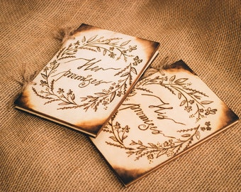 Rustic Wedding Vow Books (SET OF 2)
