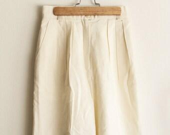 Vintage High Waist Linen Shorts