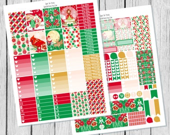 Classic Christmas Planner Sticker Printable / Printable Planner Stickers / Weekly Sticker Kit / Winter Planner Stickers