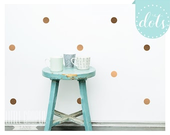 Polka Dots Circles 5CM Wall Decal Vinyl Sticker Copper Gold Spots _ 2 Inches Set of 40 | 80 | 120 | 160 _ For Nursery OR Kids Room _ID#1304