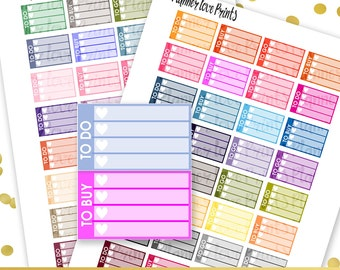 50 %Off To Do, To Buy, To Go Printable Planner Stickers | Instant Download | Pdf and Jpg Format