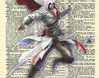 Ezio Auditore - Assassins Creed Vintage Dictionary Page Art Print