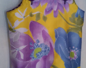 Yellow Floral, Purple Gingham Jumper