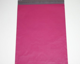 25 10x13 Poly Mailers Raspberry  Self Sealing Envelopes Valentine Spring