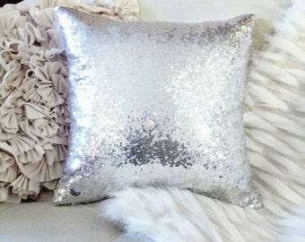 Sequin Metallic Throw Pillow / Cushion Cover