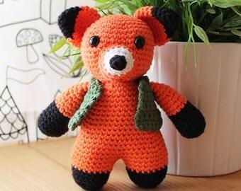 Fox - Animalius. Amigurumi Pattern PDF, Animal Toy, Nursery Doll, Crochet Pattern, Cute Children Gift, DIY, Art Crafts, Instant download