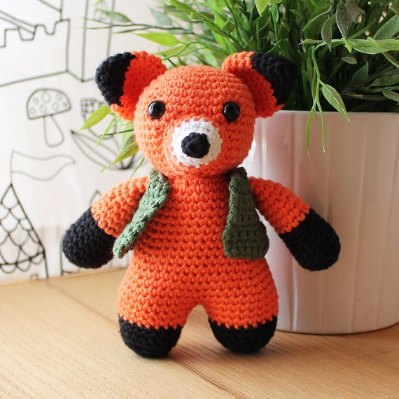 Fox - Animalius. Amigurumi Pattern PDF, Animal Toy, Nursery Doll, Crochet Pattern, Cute Children Gift, DIY, Art Crafts, Instant download