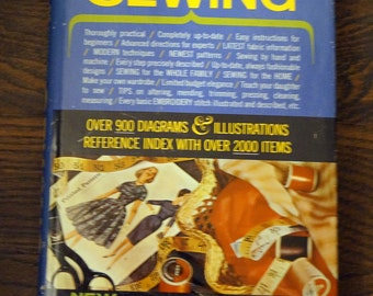 Vintage Sewing Instruction Book published in 1960s - The Complete Book of Sewing