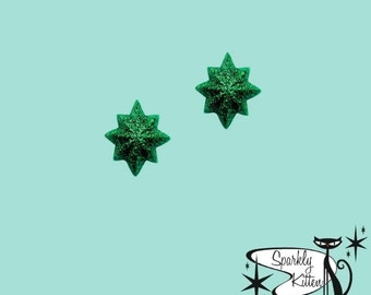 The Starburst earrings in green