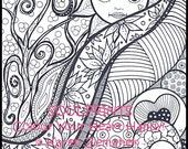 Adult Colouring Pages, Printable Coloring Pages; Adult Coloring Book Page Download, Adult Colouring Book Page, Teen Coloring, Soulprints