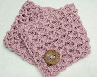 Chunky Crochet Cowl Kit in Petal Pink