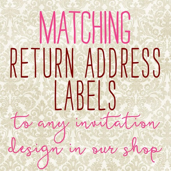 Matching Return Address Labels Clear To Any Invitation. Furniture Signs. Viscount Decals. Preschool Signs. Proposal Banners. Mx135 Decals. Fluorescent Murals. Music Note Wall Murals. Basketball Player Stickers