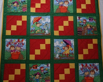 Childhood, Baby Quilt, Toddler Quilt