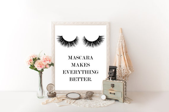 Prints for bathroom makeup decor makeup wall art makeup canvas art