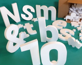 DIY 10 Pack Big Letters, Numbers, or Symbols - Cover, Color, Macrame, Collage, Sign