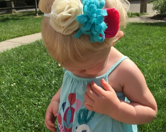 Multi Flower Childrens Headband