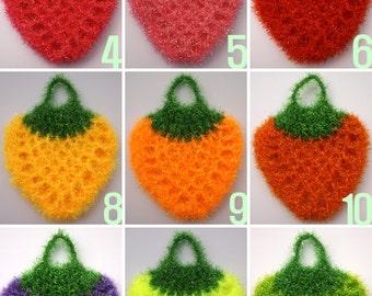 Buy 5 Get 1 Free / Crochet Strawberry Shape Dish Scrubbies / Strawberry Shape Susemi / Dish Scrubbies / Scrubber